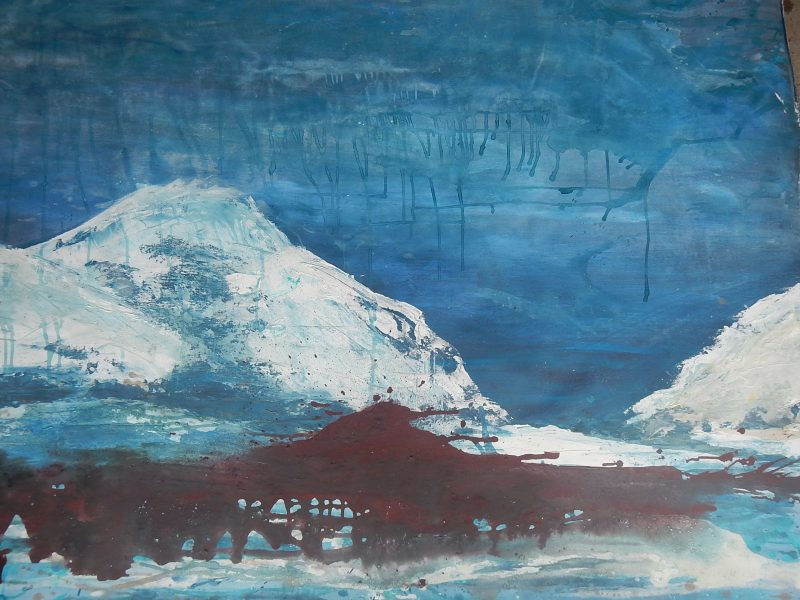 Magdalena Nothaft, mountain blues, 140x120, Acryl auf Leinwand